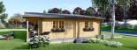 Insulated Log Cabin House RIVIERA 13m x 9m (43x30 ft) Building Reg Friendly visualization 5