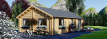 Insulated Residential Log Cabin GRETA 9m x 6m (30x20 ft) Building Reg Friendly visualization 7