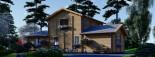 Log Cabin House HOLLAND PLUS 13.5m x 8.5m (44x28 ft) 66 mm visualization 6
