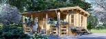Log Cabin ROYAL 5m x 5m (16x17 ft) 44 mm visualization 1
