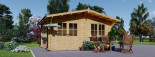 Insulated Log Cabin LILLE 4m x 5m (13x16 ft) Twin Skin visualization 2