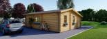 Residential Log Cabin DIJON 6.6m x 7.8m (22x26 ft) 44 mm visualization 4