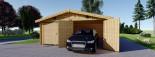 Double Wooden Garage 6m x 9m (20x30 ft) 66 mm visualization 4