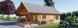 Insulated Log Cabin House AURA 6m x 12m (20x40 ft) Twin Skin visualization 5