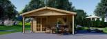 Insulated Log Cabin CAMILA 6m x 6m (20x20 ft) Twin Skin visualization 2