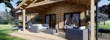 Log Cabin House VERA 11.9m x 9.7m (39x32 ft) 66 mm visualization 10