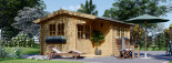 Insulated Log Cabin OSLO 5m x 4m (17x13 ft) Twin Skin visualization 2