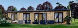 Insulated Granny Annexe NICOLE M 12.7m x 6.15m (42' x 20') visualization 3