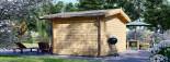 Garden Log Cabin RENNES 4m x 3m (13x10 ft) 34 mm visualization 4