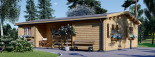 Residential Log Cabin UZES 10.2m x 7m (34x23 ft) 44 mm visualization 4