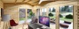 Insulated Garden Office TINA 5.5m x 5m (18x16 ft) Twin Skin visualization 9