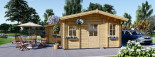 Insulated Residential Log Cabin DIJON 6.6m x 7.8m (22x26 ft) Building Reg Friendly visualization 6