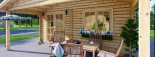 Insulated Log Cabin CAMILA 6m x 6m (20x20 ft) Twin Skin visualization 8