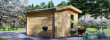 Garden Room POOLHOUSE 4m x 3m (13x10 ft) 44 mm visualization 4