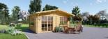 Log Cabin WISSOUS 5m x 6m (16x20 ft) 44 mm visualization 3
