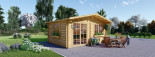 Log Cabin WISSOUS 5m x 6m (16x20 ft) 44 mm visualization 1