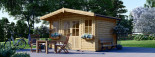 Insulated Garden Log Cabin OLYMP 4m x 3m (13x10 ft) Twin Skin visualization 1