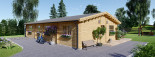 Log Cabin House LIMOGES 7.6m x 13.6m (25x45 ft) 66 mm visualization 6