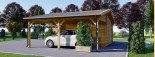 Single Wooden Garage with Carport 7m x 6m (23x20 ft) 44 mm visualization 3