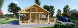 Insulated Residential cabin ANGERS 8m x 6m (26x20 ft) Twin Skin visualization 2