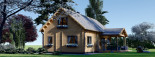 Log Cabin House VERA 11.9m x 9.7m (39x32 ft) 66 mm visualization 4