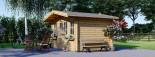 Garden Log Cabin OLYMP 4m x 3m (13x10 ft) 44 mm visualization 3