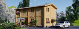 Insulated Log Cabin House TOULOUSE 6m x 11m (20x36 ft) Twin Skin visualization 7