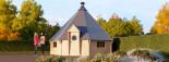 BBQ Hut 5.5m x 5.5m (18x18 ft) 44 mm 25 m² visualization 1