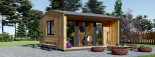 Insulated Garden Office TINA 5.5m x 4m (18x13 ft) Twin Skin visualization 3