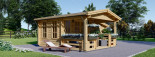Log Cabin ISLA 6m x 5m (20x16 ft) 44 mm visualization 3