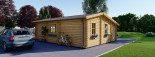 Insulated Residential Log Cabin DIJON 6.6m x 7.8m (22x26 ft) Building Reg Friendly visualization 4
