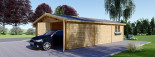 Double Wooden Garage 6m x 9m (20x30 ft) 66 mm visualization 5