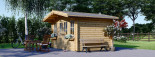 Insulated Garden Log Cabin OLYMP 4m x 3m (13x10 ft) Twin Skin visualization 3