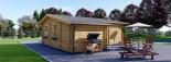 Insulated Residential Log Cabin DIJON 6.6m x 7.8m (22x26 ft) Building Reg Friendly visualization 3