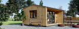 Insulated Garden Office TINA 5m x 4m (16x13 ft) Twin Skin visualization 5