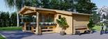 Insulated Log Cabin ISLA 6m x 5m (20x16 ft) Twin Skin visualization 6