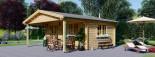 Log cabin CAMILA 6m x 6m (20x20 ft) 44 mm visualization 1