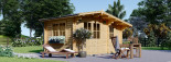 Garden Log Cabin BENINGTON 4.5m x 3m (15x10 ft) 34 mm visualization 1