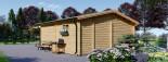 Log Cabin OLIVIA 6m x 6m (20x20) 44 mm visualization 5