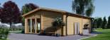 Insulated Garden Studio MARINA 8m x 6m (26x20 ft) Building Reg Friendly visualization 6