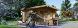 Garden Log Cabin OLYMP 4m x 3m (13x10 ft) 44 mm visualization 5