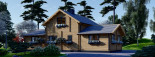Insulated Log Cabin House HOLLAND 13.5m x 7.5m (44x25 ft) Twin Skin visualization 7
