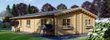Insulated Log Cabin House JULIA 13.6m x 7.6m (45x25 ft) Twin Skin visualization 5