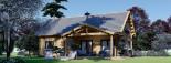 Insulated Log Cabin House VERA 11.9m x 9.7m (39x32 ft) Building Reg Friendly visualization 2
