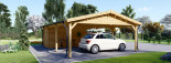 Double Wooden Carport With Shed 7.7m x 6m (25x20 ft) 44 mm visualization 8