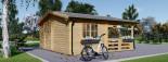 Log Cabin OLIVIA 6m x 6m (20x20) 44 mm visualization 6