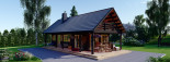 Log Cabin House AURA 6m x 12m (20x40 ft) 66 mm visualization 9