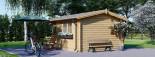 Insulated Log Cabin OSLO 5m x 4m (17x13 ft) Twin Skin visualization 5