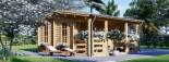 Log Cabin ROYAL 5m x 5m (16x17 ft) 44 mm visualization 4