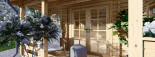 Log Cabin ROYAL 5m x 5m (16x17 ft) 44 mm visualization 7